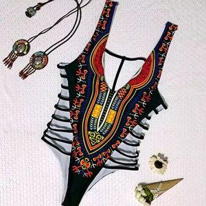 African-esque Black Monokini [Size S]